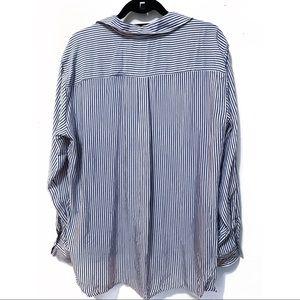 Zara Tops - Zara Oversized Striped Button-Down (NWT)